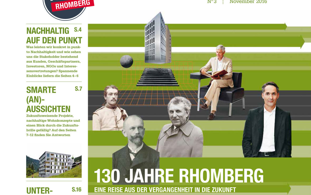 "Winner with 28 pages: The Rhomberg Group´s ""SinnEntFalter"" was honoured in Berlin at the ""Econ Megaphon Award 2018""."
