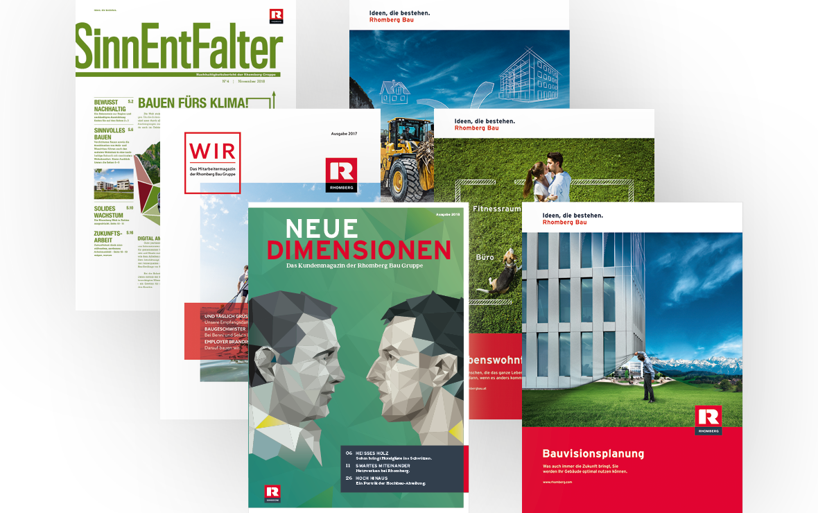Drucksorten (Magazine, Broschüren, Flyer, Folder, Inserate...)